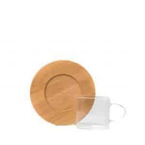Dune Espresso Cup & Saucer | Transparent Cups & Wooden Saucers | Set of 2 / 6 | 80ml