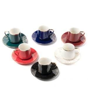 Mix Granite Espresso Cup & Saucer | Set of 6 | 80ml