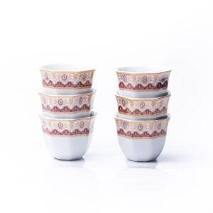 Poesy | Arabic Coffee Cup | Set of 6 | 80ml