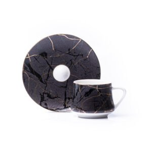 Magma Espresso Cup & Saucer | Set of 2 / 6 | 80ml
