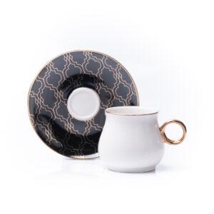 Black Motive Espresso Cup & Saucer | Set of 2 | 80ml